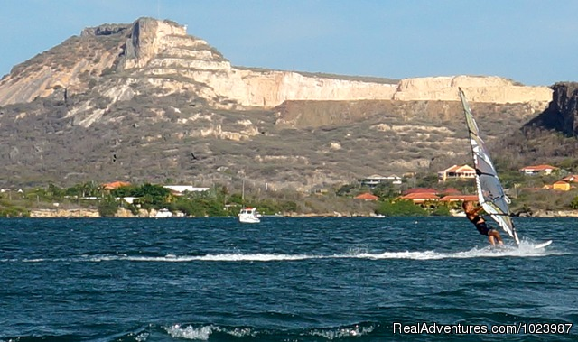 Limestone Holiday, a comfortable, cosy eco resort: The Spanish Waters, the place to windsurf.
