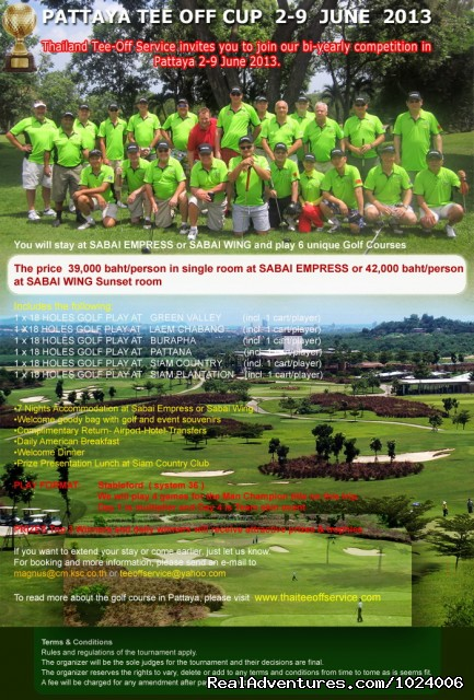 Pattaya Tee-Off Cup 2-9 June 2013 - Thailand Tee-Off Service