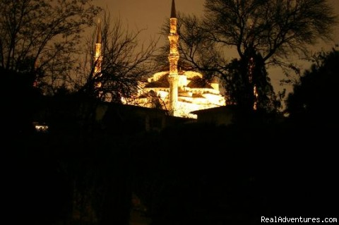Night view of Blue Mosque - Hotel Tashkonak Istanbul