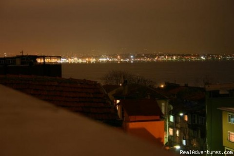 Night view of Asia side from hotel terrace - Hotel Tashkonak Istanbul