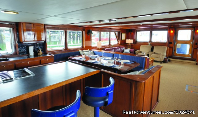 Northern Song's spacious interior - Alaska Sea Adventures YachtAlaska