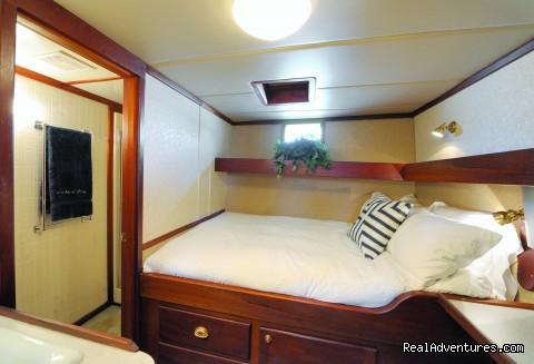 Spacious comfortable double cabins - Alaska Sea Adventures YachtAlaska