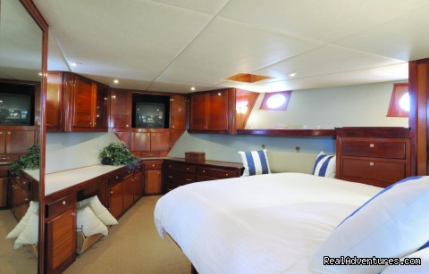 Enormous master suite - Alaska Sea Adventures YachtAlaska