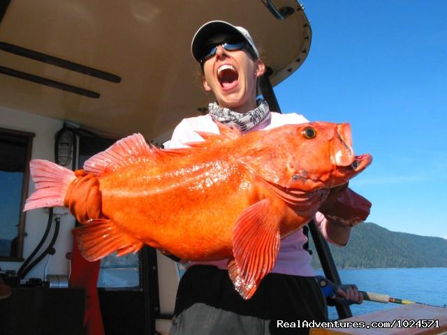 Kym's big yellow eye rockfish catch! (#16 of 24) - Alaska Sea Adventures YachtAlaska