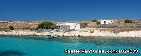 remote island beach of Rhenia for BBQ & relaxing - Mykonos Accommodation Center reservations & travel