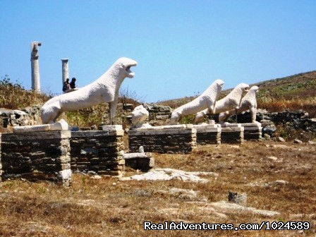 world famous UNESCO archaeological site of Delos - Mykonos Accommodation Center reservations & travel