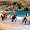 horseback riding in remote Mykonos beach locations