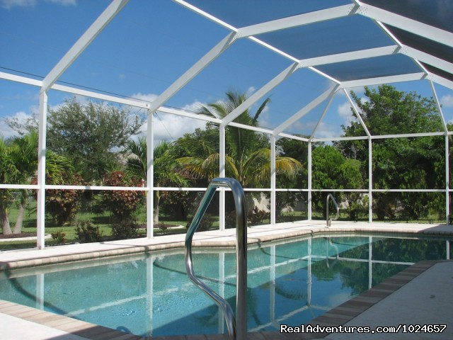 Pool and Garden - Villa Florence close to Fort Myers and beaches