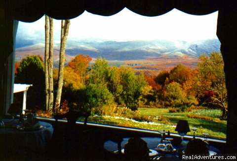 The Restaurant at Sunset Hill, fall view - A Grand Inn--Sunset Hill House