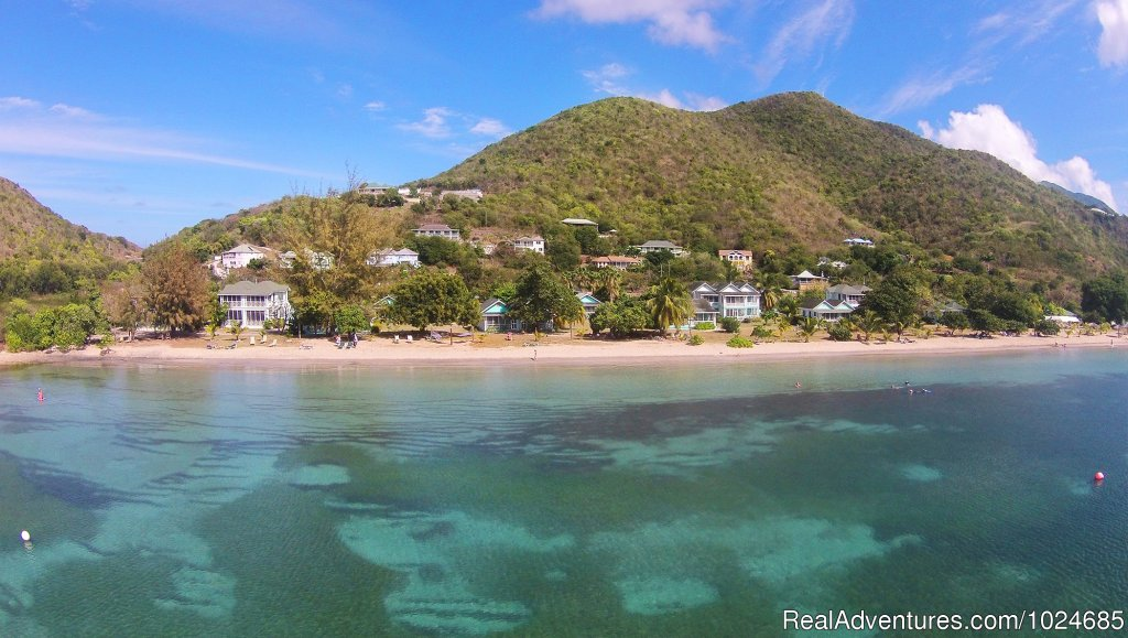 A romantic little hotel on the beach located on the unspoilt Island of Nevis. With just 32 rooms in gingerbread cottages, all with gorgeous views of sunset over the water. On site activities include scuba, game fishing, windsurfing, sailing & massage
