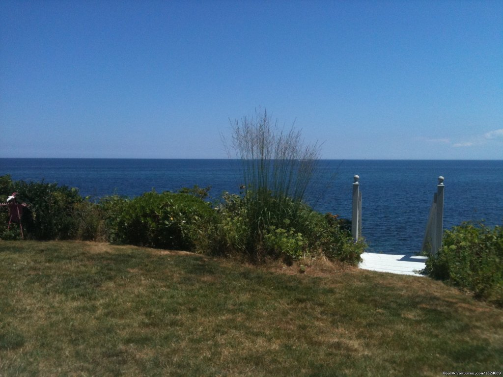View from Patio to Cape Cod Bay | Image #3/13 | A Beach House Oceanfront Bed & Breakfast