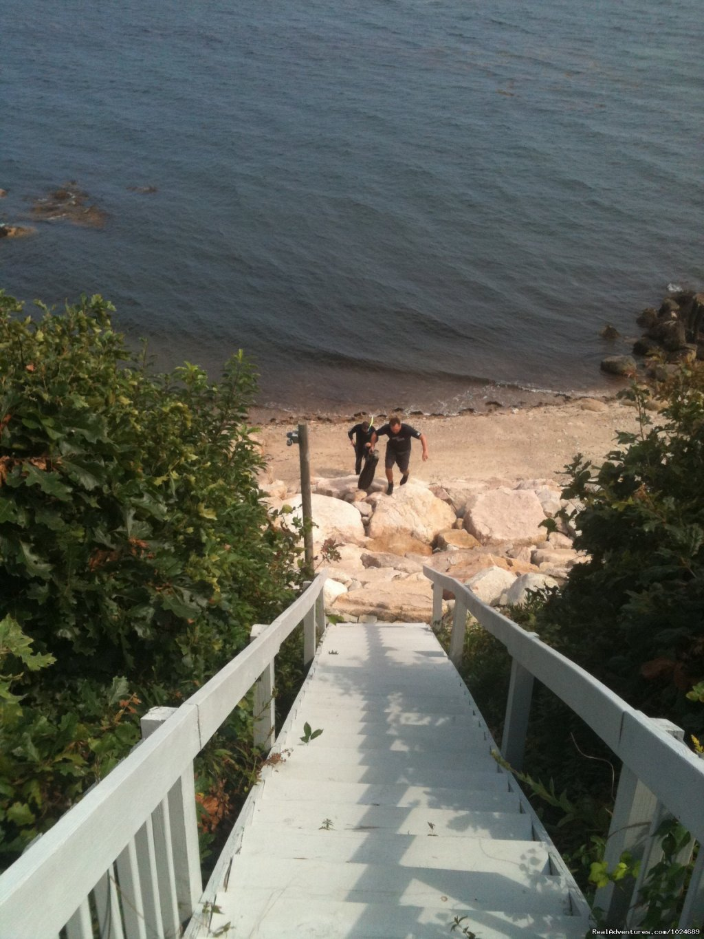 Stairs to Private Beach | Image #6/13 | A Beach House Oceanfront Bed & Breakfast
