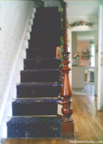 Stairs to Rooms - Nichols Guest Rooms