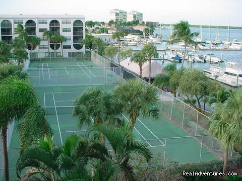 Marco Is. Waterfront Condos at Fun Anglers Cove Tennis Courts