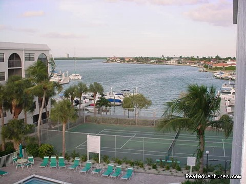View to  Marco Bay - Marco Is. Waterfront Condos at Fun Anglers Cove