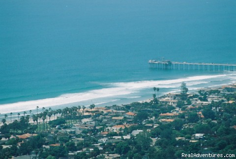 View from Mount Soledad - Scenic bike tours in San Diego and La Jolla