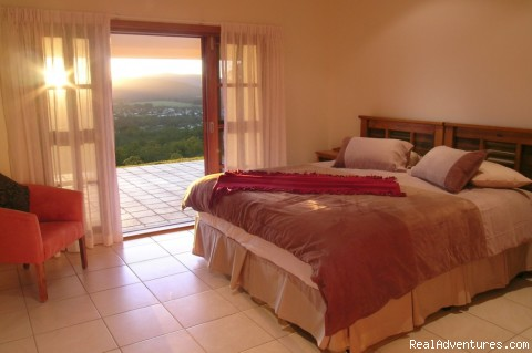 Bedrooms with ensuites and views - Cairns Highlands Holiday houses & B&B's