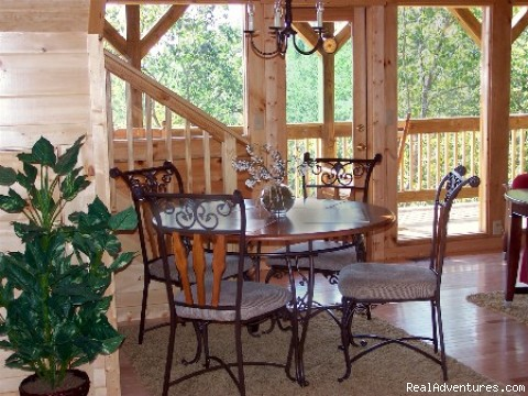 Dining Room with Views - Premier Luxury Cabin Rentals Next  To Dollywood