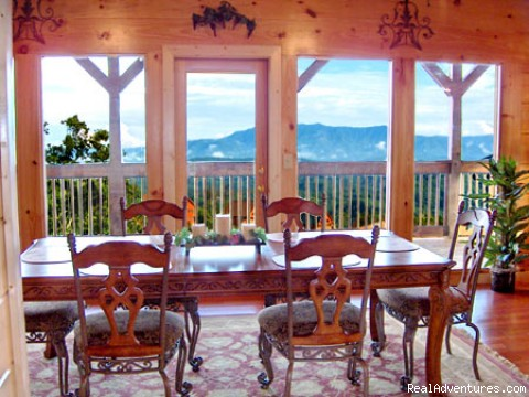 One of our Diningroom Views (#4 of 26) - Premier Luxury Cabin Rentals Next  To Dollywood