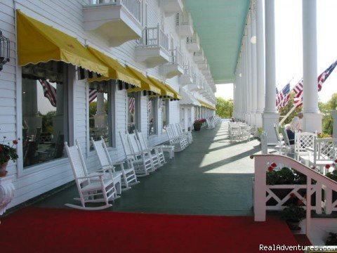 front porch | Image #3/7 | Step back in time at Grand Hotel on Mackinac