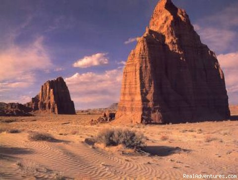 Cathedral Valley: Temple of Moon & Sun - Horses, Hiking and tours in Utah