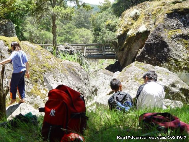 Tourists - Wairere Boulders, Hokianga Harbour