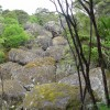 Basal boulder valley