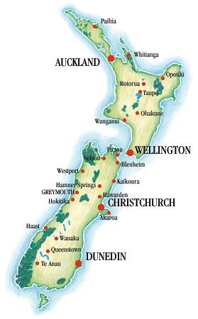 New Zealand Map (#3 of 5) - Naturally New Zealand Holidays