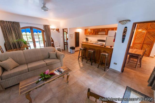Lower Jungle House Living Kitchen Area Caribbean Castles At Beach Villas