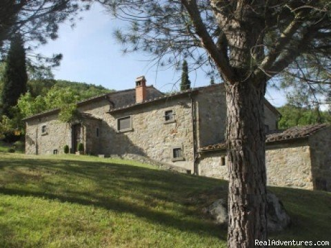 Il Rifugio... where you will enjoy privacy, serenity and spectacular views. Unwind in this 17th century Tuscan farmhouse on fifty-six acres of gardens, fields, woodlands and centuries-old terraced olive groves. Ten minutes from Cortona.
