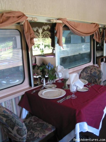 Dinner in the dining car - Chattanooga is Top Family Destination
