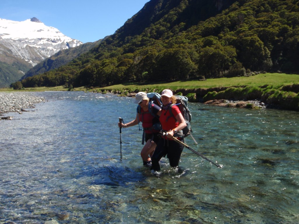 River Crossing, Rabbit Pass Trek | Image #8/9 | New Zealand Wild Walks with Aspiring Guides