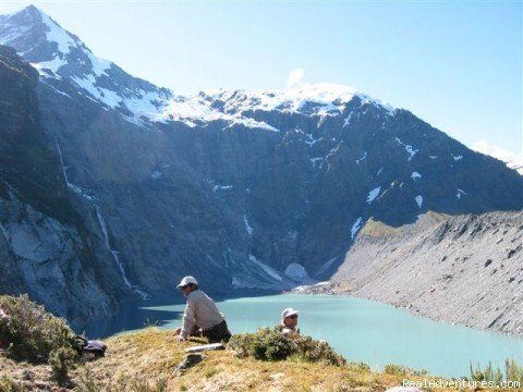 Lake Crucible on Gillespie Pass Trek | Image #9/9 | New Zealand Wild Walks with Aspiring Guides