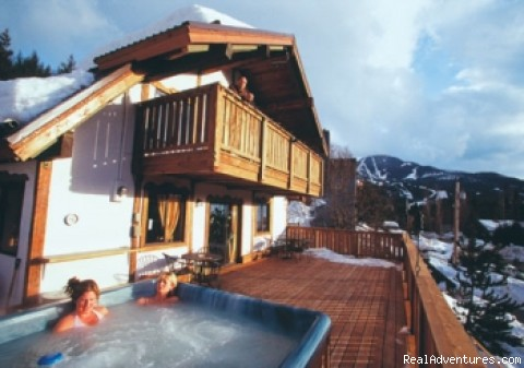 Steaming in the hottub. - Extremely Canadian Lodge