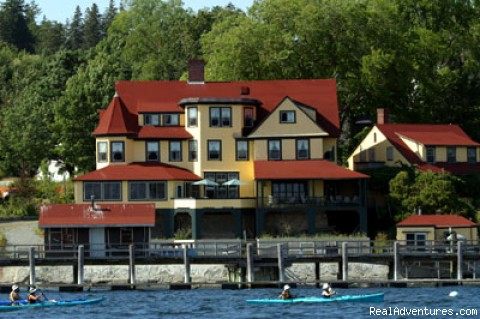 Kayaking to Our Accommodation in Castine - Maine's Penobscot Bay Adventure