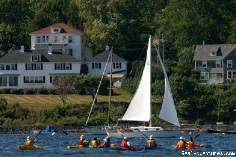 Kayaking Toward Historic Castine - Maine's Penobscot Bay Adventure