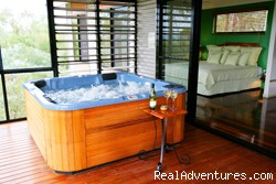 Treehouse with open plan design - ALLAWAH RETREAT -Hilltops spa lodges