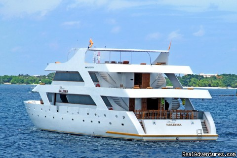 Princess HALEEMA (#1 of 13) - yacht charter,dive, surfing charters Maldives