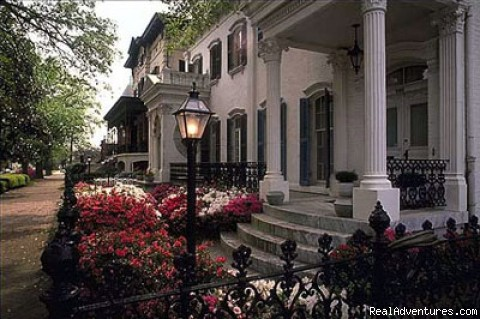 Homes Along Our Walk Through Savannah - Low Country Excursion