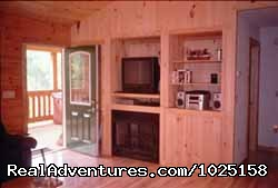 Fireplace, Satellite TV w/DVD/VCR | Image #5/8 | Way Away Log Cabin w/ Hot Tub & View of Smoky Mtns
