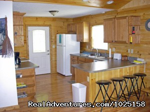 Kitchen | Image #6/8 | Way Away Log Cabin w/ Hot Tub & View of Smoky Mtns
