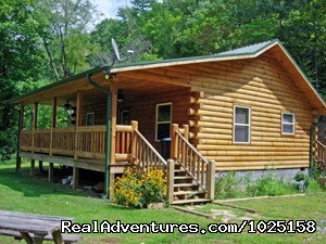 Way Away Log Cabin | Image #1/8 | Cherokee, North Carolina  | Vacation Rentals | Way Away Log Cabin w/ Hot Tub & View of Smoky Mtns