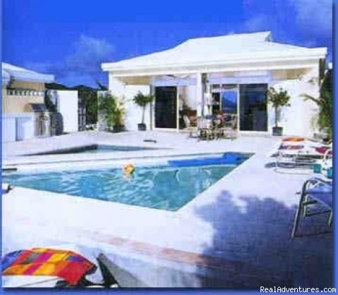St John's Popular Rental Villa Great Expectations Swimming pool patio area