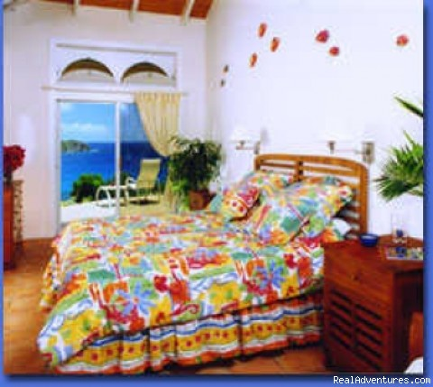 Typical bedroom - St John's Popular Rental Villa Great Expectations