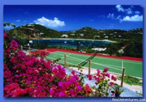 Tennis Court - St John's Popular Rental Villa Great Expectations