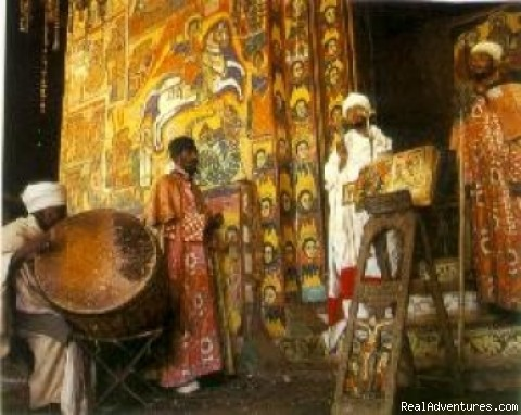 Wall Painting in One of Ethiopian Church - Travel & tour Ethiopia-Axum Lalibela Gondar Tribes