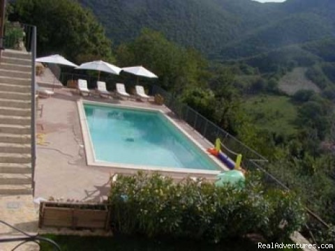 the panoramic pool - Charming and elegant residence in Umbria Italy