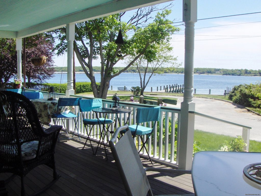 Relax on the waterfront porch at Stirling House