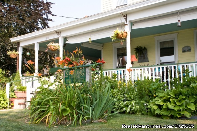 The front yard - Stirling House Bed and Breakfast - Greenport NY