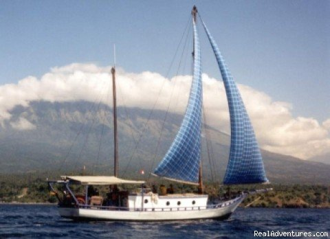 Dive amd sailing safaris on a traditional schooner based in Amed Bali, fully equipped with the latest technology. Also available for charter. For tailormade holidays and trips please contact us